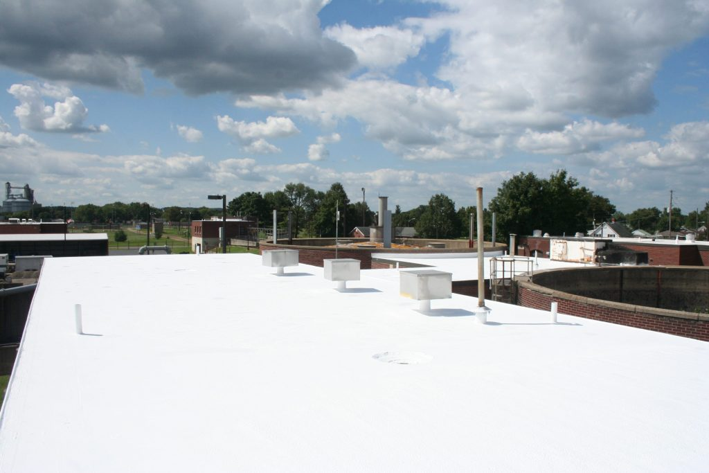 top view of our commercial roofing services after a membrane roof installaion