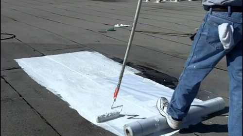 guy working on a roof