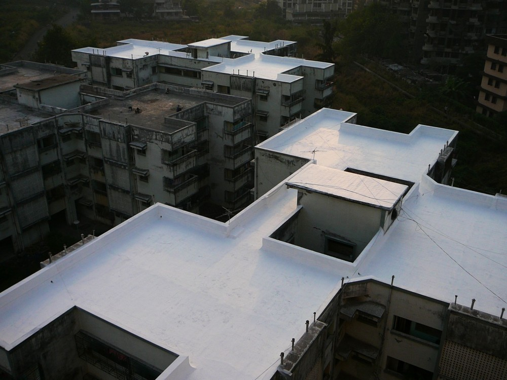Fabric reinforced roofing