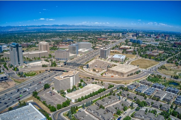 Sky view of Aurora CO.